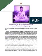 Quan Yin Purple Light Meditation