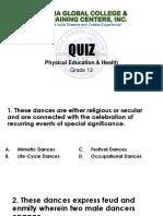 Dance Quiz 2