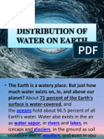 Distribution of Water and Bodies of Water