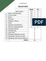 English Worksheets CBSE Class 2 Term 1