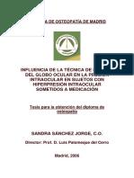 Influencia de La Tecnica de Bombeo Del Globo Ocular en La Presion Intraocular en Sujetos Hiperten