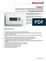 Manual Termostato Honeywell