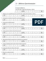 studio g - ableton questionnaire