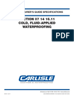 CCW-3911 601299 CCW Section 071416.11 Cold Fluid-Applied Waterproofing Specs 12-29-14 0