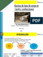 Cadena Productiva de Lana de Oveja en Sector Textil y Confecciones