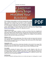 Most Common Company Logo Mistakes Your Business