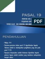 pasal 19 wahyu