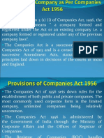 Setting Up of a Company Under Companies Act 1956