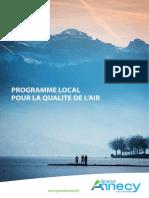 Programme local pour la qualité de l'air - Annecy