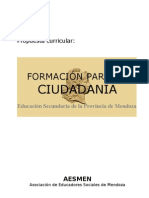 Formación para la Ciudadanía ( Provincia de Mendoza - Argentina)
