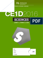 Evaluation Certificative - CE1D - Sciences - 2016 - Questionnaires Standard (Ressource 13298)