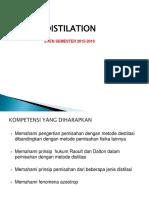 destilation