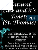 Natural Law of Tenets