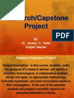 1 Research - Capstone Project Presentation