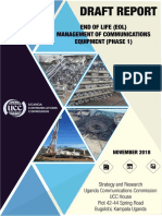 Draft Report Study on the End of Life Management EoL of Communications Equipment PHASE I Copy