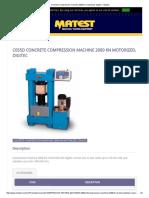 Concrete Compression Machine 2000 Kn Motorized, Digitec - Matest
