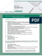Engineer – Applications Support (1)