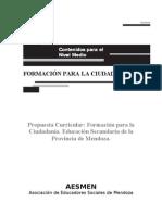 Formación para la ciudadanía . Propuesta de diseño curricular . (Provincia de Mendoza - Argentina)