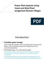 Power Plant System Using Panels and Wind Plant Management Remote Villages
