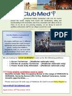 Clubmed Job Posting Finolhu GE 14.11.2019