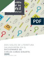 Dos Siglos de Literatura Salvadoreña en El Diccionario de Carlos Cañas Dinarte.