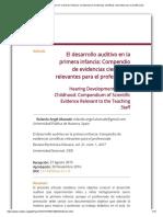 El Desarrollo Auditivo en La Primera Infancia_ Compendio de Evidencias Científicas