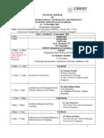 Cedbec Schedule Nsenstp(12 14 Nov)