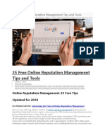 25 Free Online Reputation Management Tips and Tools