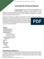Código Internacional de Nomenclatura Zoológica - Wikipedia, La Enciclopedia Libre