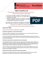 Section 8 Right to Equality