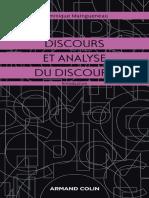 Discours Et Analyse Du Discours - Maingueneau, Dominique