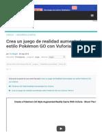 Crea un juego de realidad aumentada estilo Pokémon GO con Vuforia_Parte 1