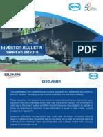 Wijaya Karya Investor Bulletin
