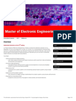 Master of Electronic Engineering Melbourne 2019 LTU