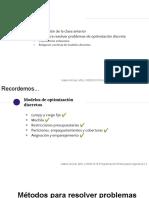 4 - Métodos para resolver problemas de optimización discreta (1)