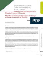 LA TOPOFILIA EN LA CONSTRUCCIÓN DE PROCESOS DE EDUCACIÓN AMBIENTAL COMUNITARIOS EN COLOMBIA