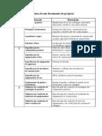 Estrutura de Um Documento de Projecto