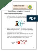 Fluid Mechanics Worksheet 2