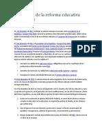 Cronología de La Reforma Educativa 2012 2013