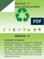 I. Sustainable Development