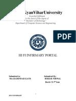 Cse Java Project on High Fi Infirmary Portal