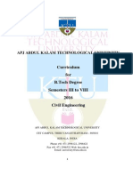 KTU Civil Engineering curriculum