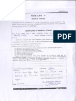 Medical Ccertificate