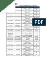 Listado Convenio Especialistas 2017