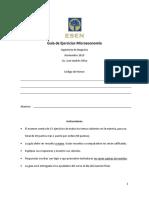 Guía de Ejercicios - Fin de ciclo Microeconomía