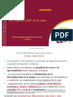 Presentacion Jornada Ley de Gualdad