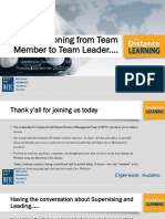 Transitioning From Employee to Lead