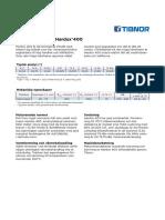 Datablad Forhardat Slitstal Hardox 400