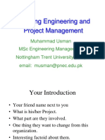 Lecture 1 Introduction to Project Management 09-10-2007