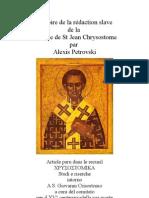 Histoire Version Slave Liturgie Chrysostome
